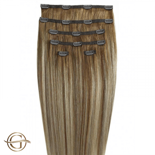 Clip-on Hair Extensions no.12/613 Dark Blondmix - 7 sæt - 60 cm