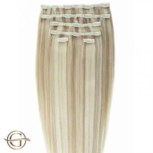 Clip-on Hair Extensions no.27/613 Blondemix - 7 sæt - 50 cm |