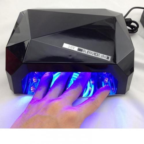 UV Lampe Negletørrer med LED-lys 36 watt 220v - Sort